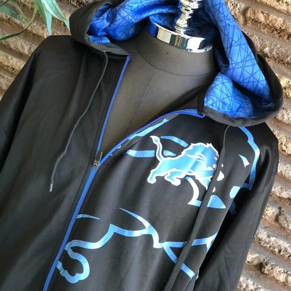 Cheap Majestic Shirts | Nfl Detroit Lions Black Hoodie Sweatshirt Nwt 2xl  free shipping